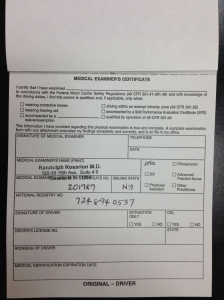 Medical Examiner's Certificate